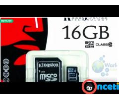 Se Vende Memoria Microsd Kingston 16gb Clase 10 Uhsi 30mb/seg Original