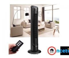 Free Standing 40 size LCD Digital Control Air Conditioner Bladeless Tower Fan Black