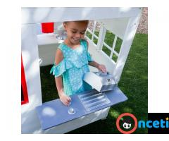 Modern Outdoor Playhouse White by KidKraft for sales