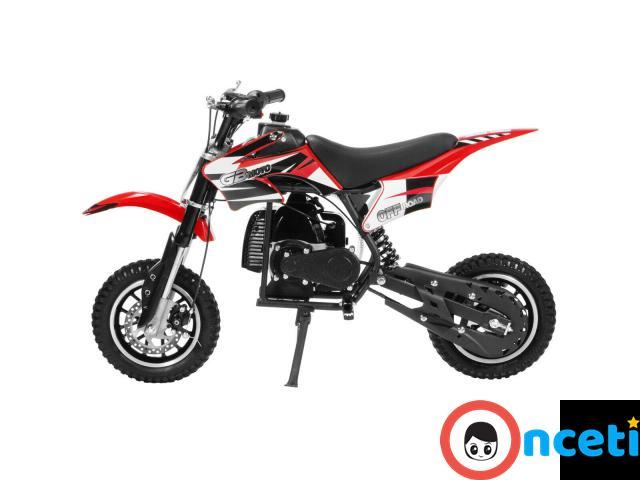 49cc Mini Dirt Bike Motorized Gas Motor Ride On Off Road Bike 2 Stroke Motor full - 2/4