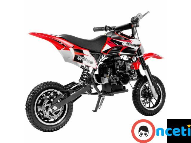 49cc Mini Dirt Bike Motorized Gas Motor Ride On Off Road Bike 2 Stroke Motor full - 3/4