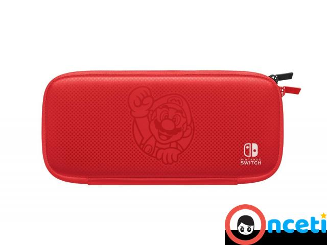 NEW Nintendo Switch Bundle with Red Joy Cons Carrying Case & eShop Credit - 3/4