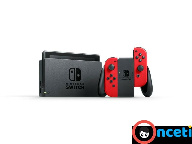 NEW Nintendo Switch Bundle with Red Joy Cons Carrying Case & eShop Credit - 4/4