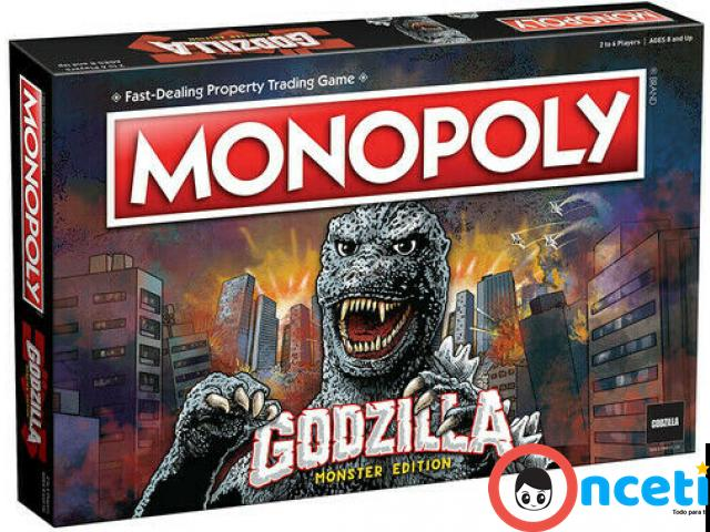 MONOPOLY GODZILLA Table Top Game, Board Game - 1/4