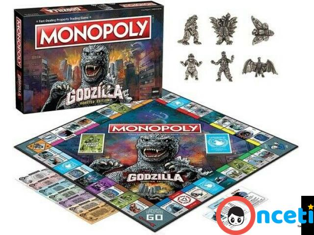 MONOPOLY GODZILLA Table Top Game, Board Game - 2/4