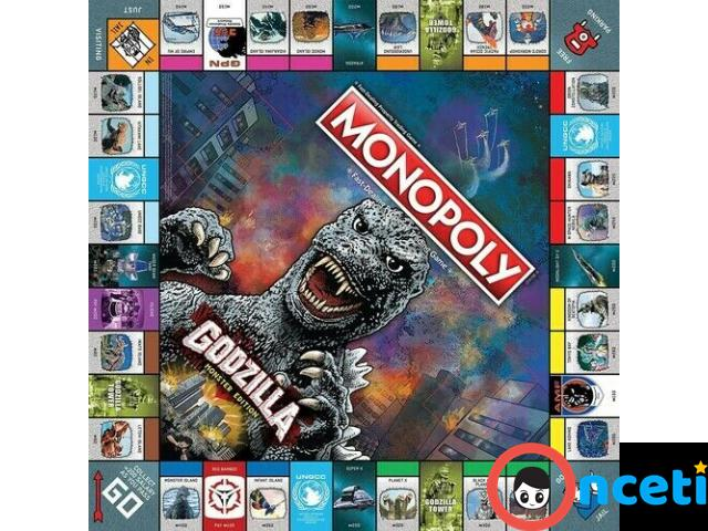 MONOPOLY GODZILLA Table Top Game, Board Game - 3/4