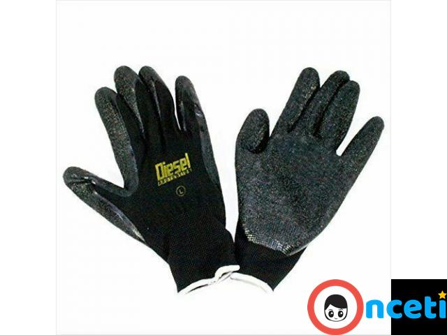 12-PACK SAFETY AND WORK GLOVES. latex coated grip - 2/4