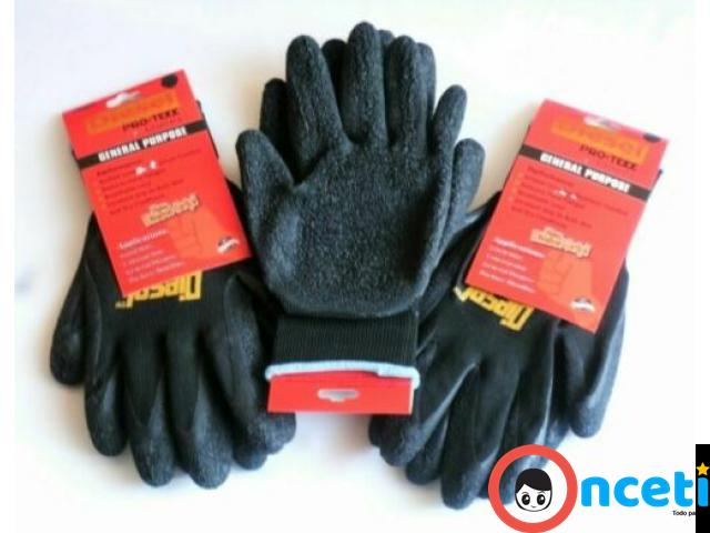 12-PACK SAFETY AND WORK GLOVES. latex coated grip - 3/4