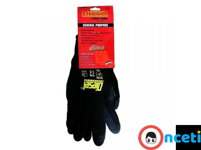 12-PACK SAFETY AND WORK GLOVES. latex coated grip - 4/4