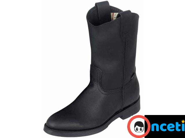 Men's Genuine Leather Steel Toeless Work Boots - 1/1